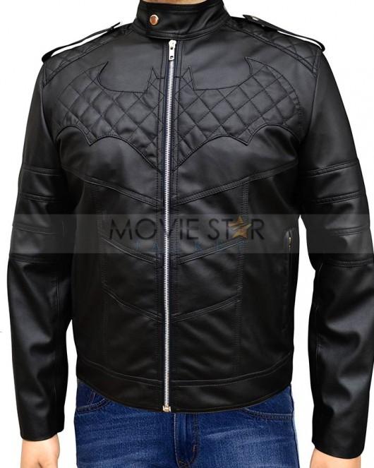 Batman Arkham Knight Black Leather Jacket