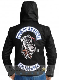 Sons Of Anarchy Jacket with Detachable Hood