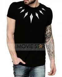 black panther half sleeve tee shirt
