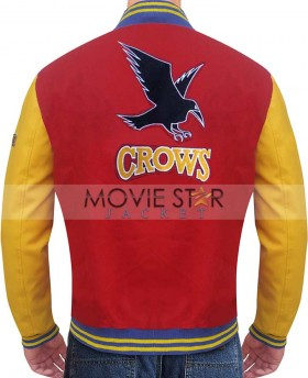 smallville crow varsity jacket