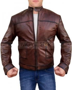 Mens Casual Wear Biker Style Leather Jacket