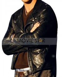Ryan Gosling Stylish Biker Leather Jacket