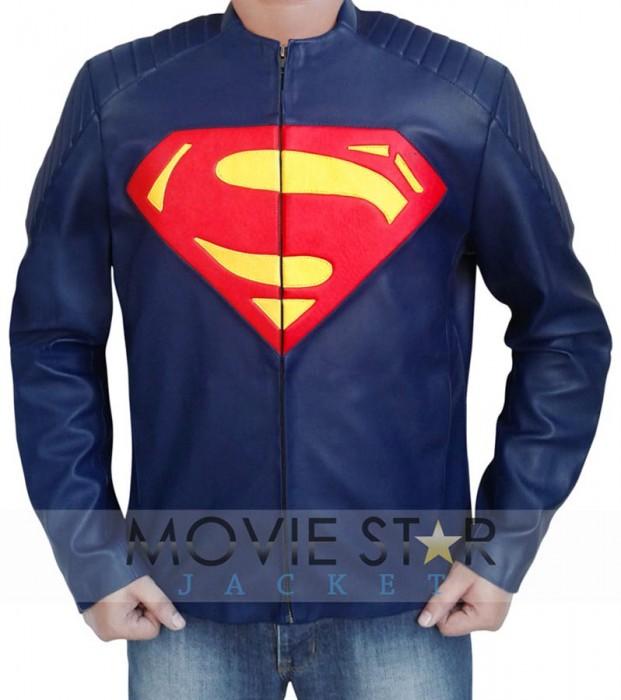 Clark Kent Man of Steel Leather Jacket