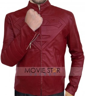 smallville red leather jacket