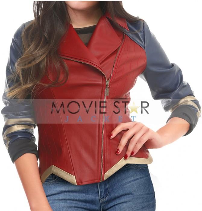 Wonder Woman Leather Jacket DC Comics