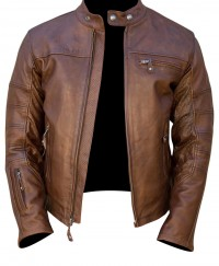 Retro Brown Mens Fashion Leather Jacket