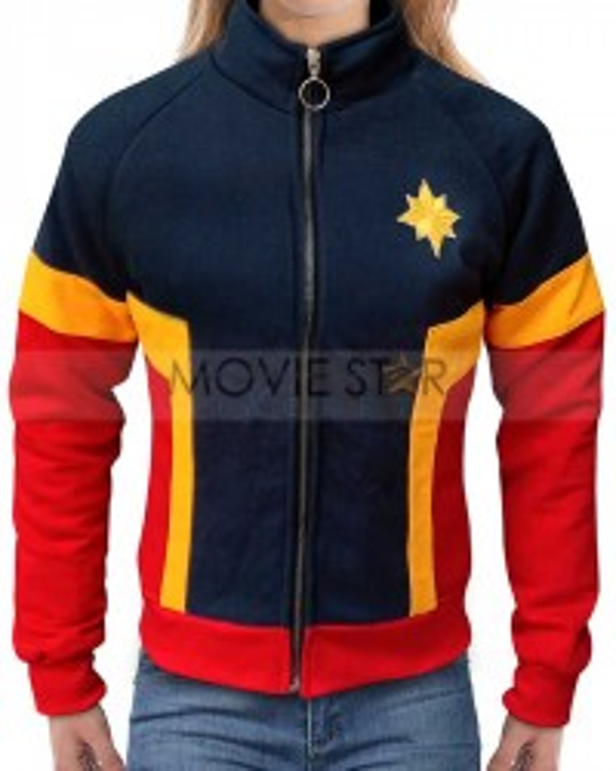 brie larson captain marvel tracksuit hoodie jacket