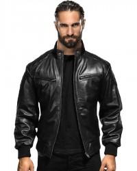 WWE Seth Rollins Black Bomber Jacket