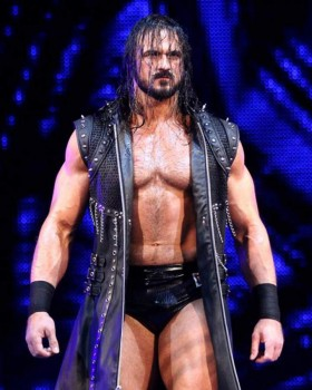 WWE Drew McIntyre Black Leather Trench Coat