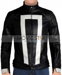 Agents Shield Ghost Rider Black Jacket