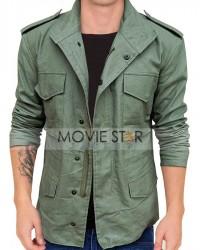 hobbs & shaw green cotton jacket