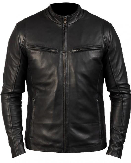 Iconic Design Black Biker Leather Jacket