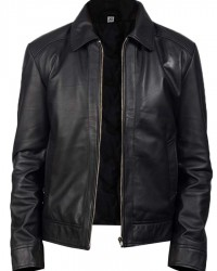 Black Tarnito Mens Fashion Leather Jacket