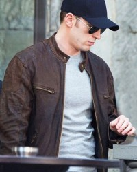 Civil War Steve Rogers Brown Leather Jacket