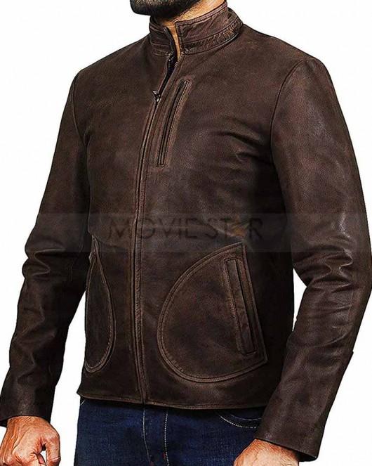 dwayne johnson rampage leather jacket