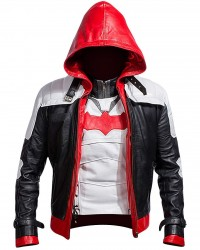 Arkham Knight Red Hooded Bat Style Vest and Jacket 2 in 1 Premium Quality