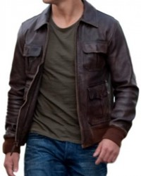Abduction Taylor Lautner Brown Leather Jacket