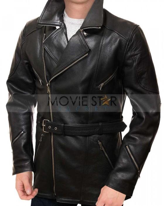 Augusta Biker Black Lambskin Leather Coat