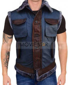 Jumanji 3 Dwayne Johnson Distressed Leather Vest