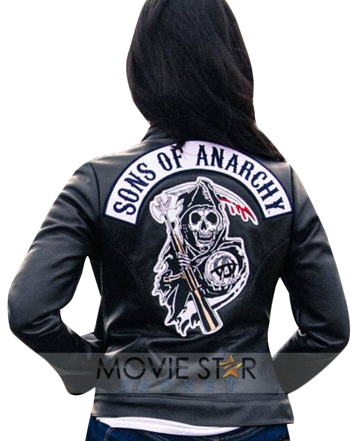 sons of anarchy jacket for women moviestarjacket. Black Bedroom Furniture Sets. Home Design Ideas