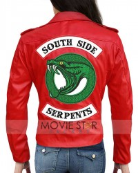 Riverdale Southside Snake Serpents Women Red Jacket