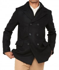 James Bond Skyfall black Peacoat