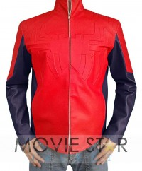 Spider Man Red Leather Jacket