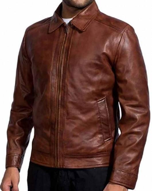 Keanu Reeves John Wick Brown Leather Jacket