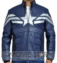 Captain America Chris Evans Leather Jacket 2014