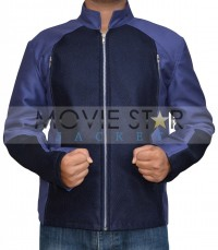Blue Chris Evans Cotton Jacket 2014