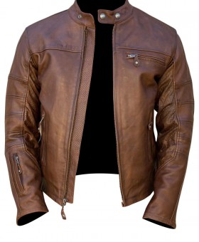 Retro Brown Mens Fashion Leather Jacket