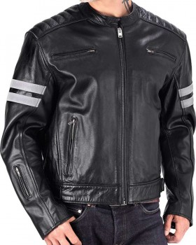 Speedy Black Biker Leather Jacket