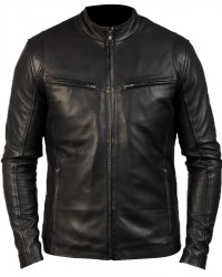 Iconic Design Black Biker Leather Jacket