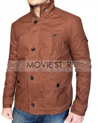 Stephen Amell Oliver Queen Brown Jacket