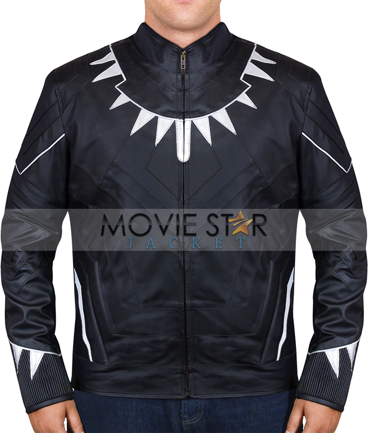 Black Panther Leather Jacket in MovieStarJacket