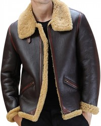 B3 Bomber Shearling Sheepskin Leather Jacket