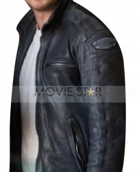 Need For Speed Black Real Leather Jacket