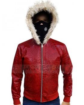 Red Crocodile Leather Jacket