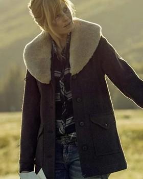 Yellowstone Beth Dutton Wool Coat