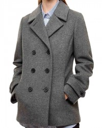 betty cooper grey double breasted coat
