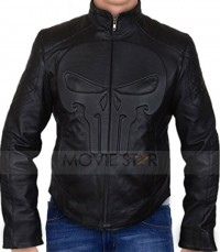 frank castle punisher skull leather jacket