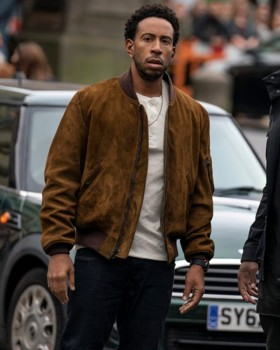 Fast And Furious 9 Tej Parker Brown Suede Jacket