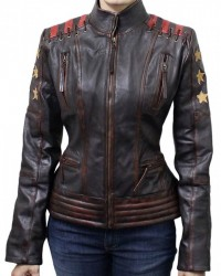Cafe Racer Vintage Womens Brown Wax Leather Jacket