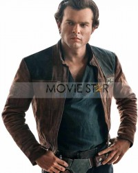 Solo A Star Wars Story Brown Distressed Leather Jacket