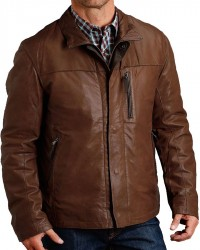 Cowboy Mens Real Brown Leather Jacket